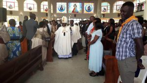 Archbishop Cyprian Kizito Lwanga at Ntinda Parish