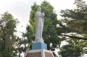 Statue of Our Lady at Lubaga Cathedral