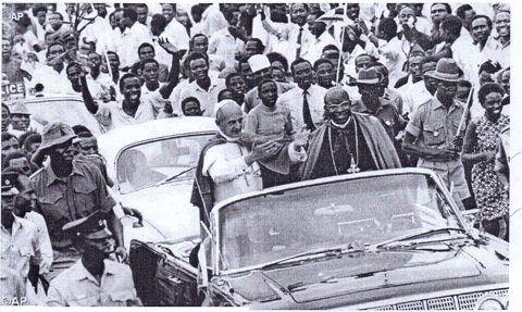 Pope Paul VI's Visit to Namugongo, 2nd August 1969